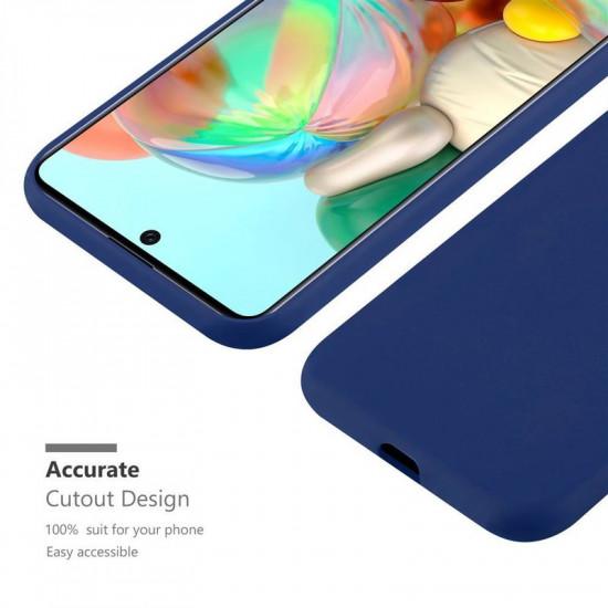 Cadorabo Samsung Galaxy A51 Matte Θήκη Σιλικόνης - Dark Blue