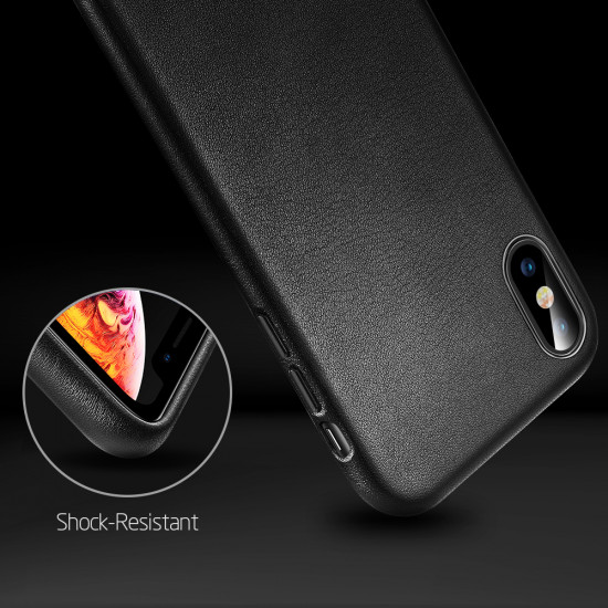 ESR Apple iPhone X / XS Oxford Leather Θήκη από Γνήσιο Δέρμα - Black