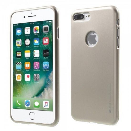 Mercury i-Jelly Premium Slim Case for Apple iPhone 7 Plus - Gold