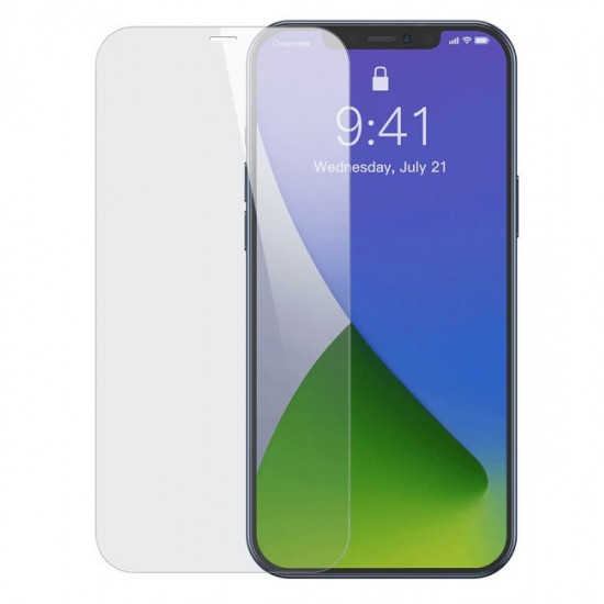 Baseus Apple iPhone 12 / iPhone 12 Pro 0.3mm Full Glass Full Screen Αντιχαρακτικό Γυαλί Οθόνης - 2 Τεμάχια - Clear - SGAPIPH61P-LS02