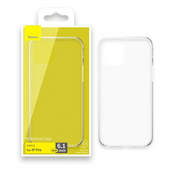 Baseus Simplicity TPU Case for Apple iPhone 12 / iPhone 12 Pro - Διάφανη - ARAPIPH61P-02