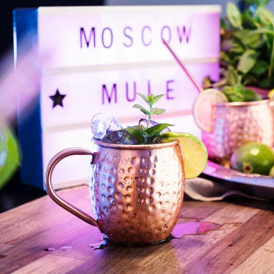 Navaris Moscow Mule Σετ με 2 Κούπες για Cocktail από Ανοξείδωτο Ατσάλι και Επίστρωση Χαλκού - 500ml - Copper - 46859.01.02
