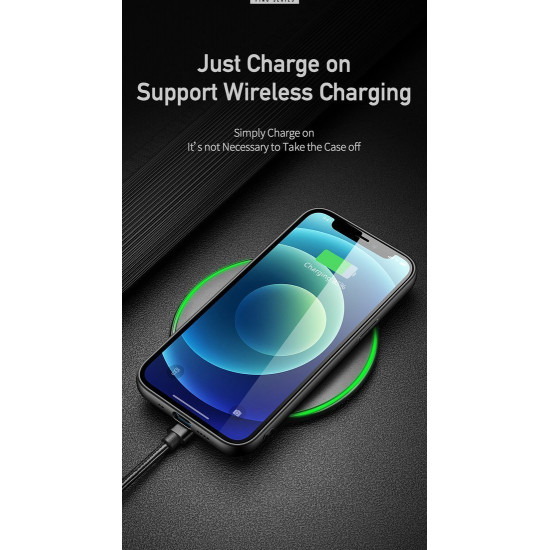 Dux Ducis Apple iPhone 12 mini Fino Series Σκληρή Θήκη με Πλαίσιο Σιλικόνης και Επένδυση από Ύφασμα - Soldier Green
