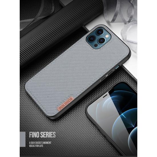 Dux Ducis Apple iPhone 12 Pro Max Fino Series Σκληρή Θήκη με Πλαίσιο Σιλικόνης και Επένδυση από Ύφασμα - Crystal Blue