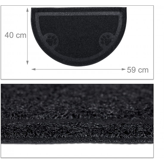 Relaxdays Χαλάκι PVC για την Είσοδο της Τουαλέτας - Black - 4052025910297
