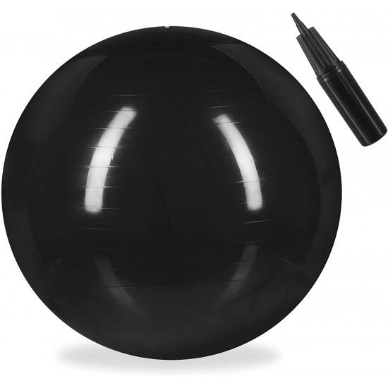 Relaxdays Μπάλα Γυμναστικής 55 cm - Black - 4052025921927