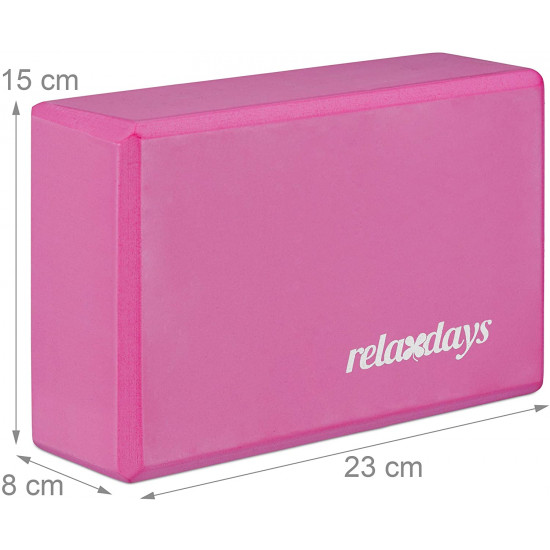 Relaxdays Σετ με 2 Μαξιλάρια Yoga - Pink - 4052025944889