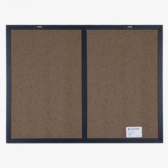 Navaris Combo Board with Chalk and Fabric Boards - Διπλός Πίνακας Ανακοινώσεων με Μαγνητικό Μαυροπίνακα και Πίνακα από Ύφασμα - Black / Beige - 51755.6.11