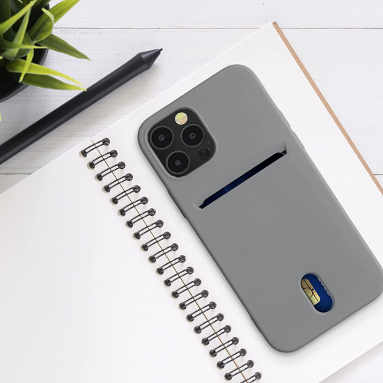 KW iPhone 12 / 12 Pro Θήκη Σιλικόνης TPU - Titanium Grey - 54513.155