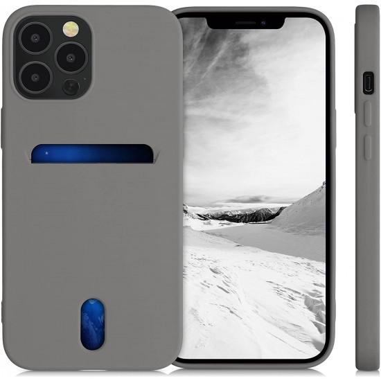 KW iPhone 12 Pro Max Θήκη Σιλικόνης TPU - Titanium Grey - 54514.155
