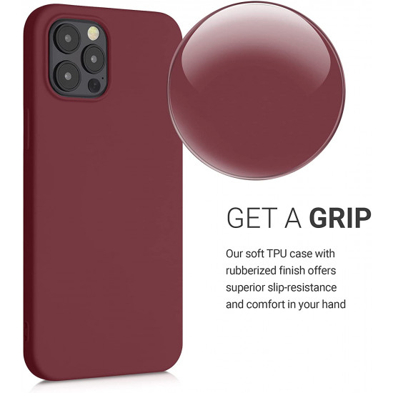 KW iPhone 12 Pro Max Θήκη Σιλικόνης Rubberized TPU - Rhubarb Red - 52714.209