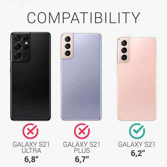 KW Samsung Galaxy S21 Θήκη Σιλικόνης Rubber TPU - Tomatillo - 54056.214