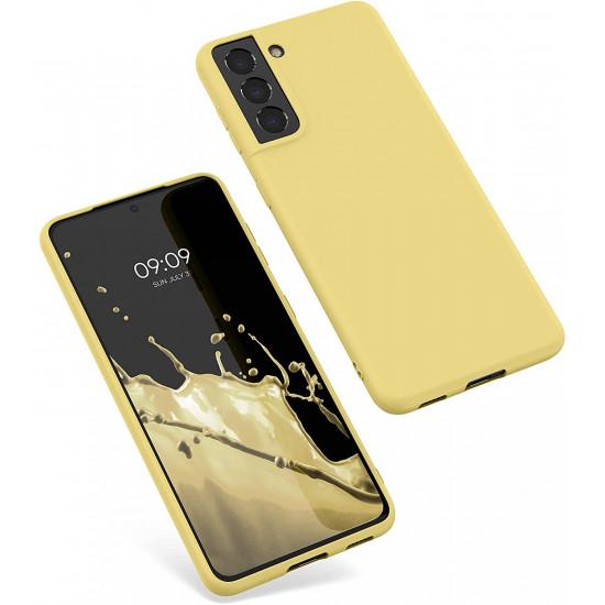 KW Samsung Galaxy S21 Θήκη Σιλικόνης TPU - Mellow Yellow - 54055.216