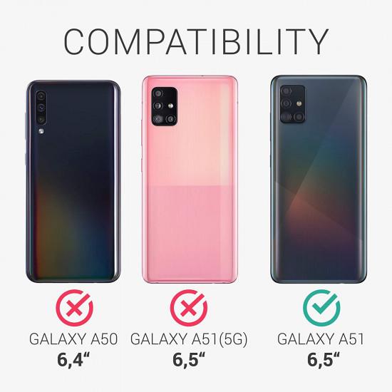 KW Samsung Galaxy A51 Θήκη Σιλικόνης με Κάλυμμα για την Κάμερα - Black - 54865.01