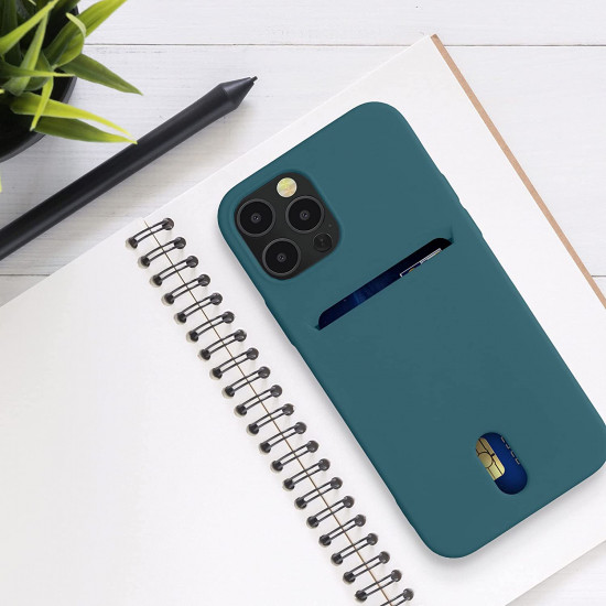 KW iPhone 12 / 12 Pro Θήκη Σιλικόνης TPU - Teal Matte - 54513.57