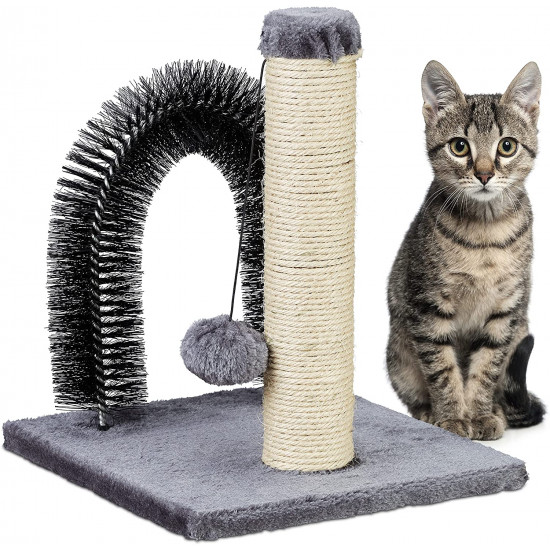 Relaxdays Ονυχοδρόμιο για Γάτες με Καμάρα για Μασάζ και Παιχνίδι - 4052025308117