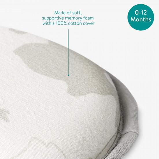 Navaris Anti-Flat Head Μαξιλάρι Μωρού - Light Grey - 51681.22