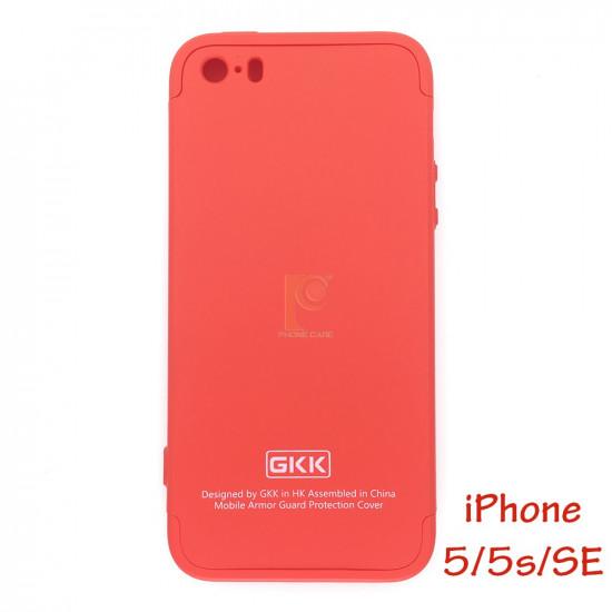 GKK iPhone 5 / 5S / SE Θήκη 360 Full Body - Red