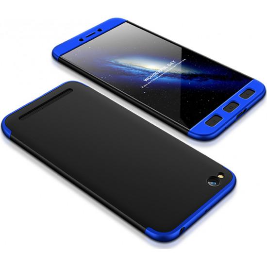 GKK Xiaomi Redmi 5A Θήκη 360 Full Body - Blue / Black