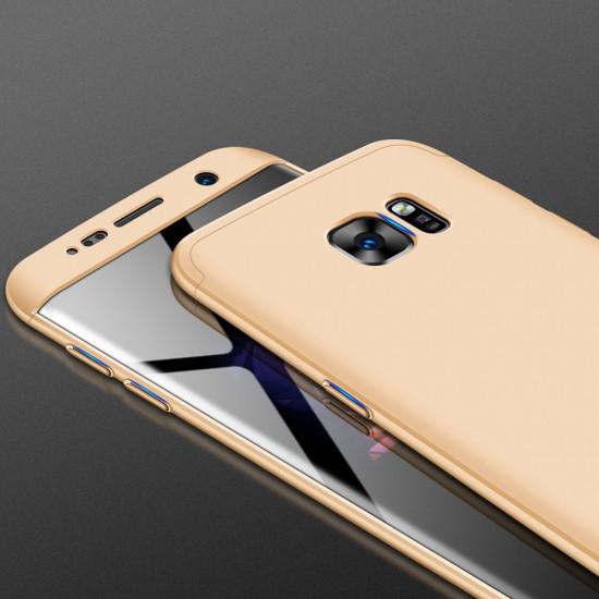 GKK Samsung Galaxy S7 Edge Θήκη 360 Full Body - Gold