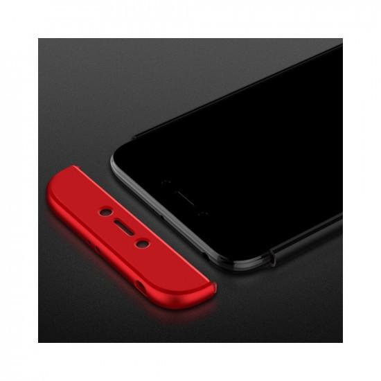GKK Xiaomi Redmi 5A Θήκη 360 Full Body - Red / Black