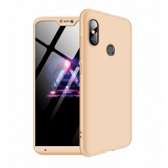GKK Xiaomi Mi A2 Lite Θήκη 360 Full Body - Gold