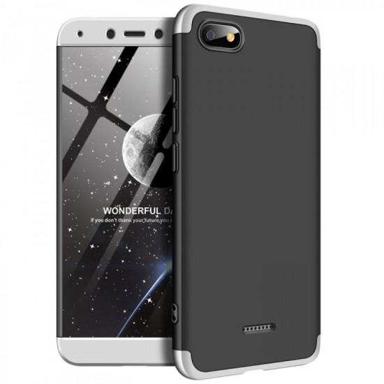 GKK Xiaomi Redmi 6a Θήκη 360 Full Body - Black / Silver