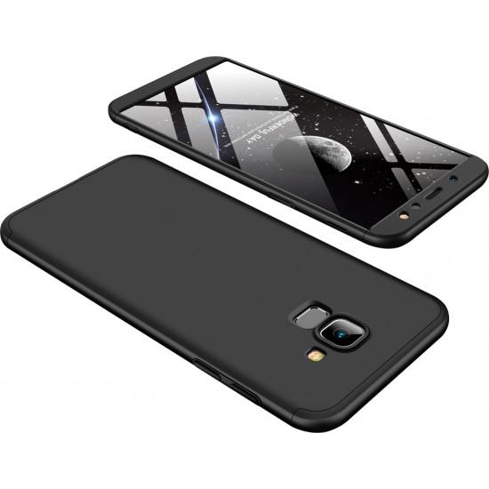 GKK Samsung Galaxy A6 2018 Θήκη 360 Full Body - Black