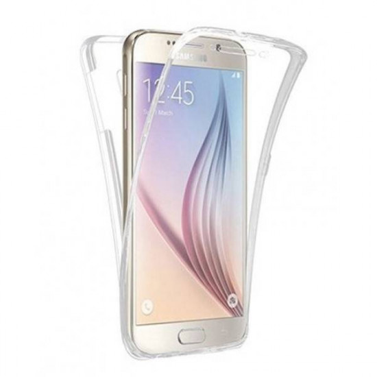 Forcell for Samsung Galaxy J7 2017 Jelly Full Cover Front and Back - Clear