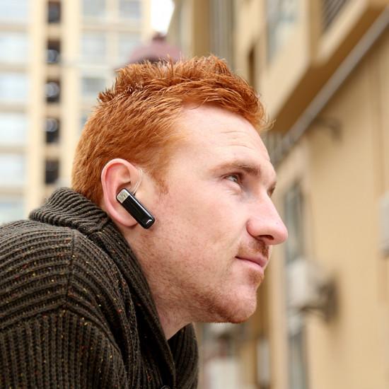 Baseus Timk Series Wireless Headset for Calls - Ασύρματο ακουστικό για κλήσεις hands-free - Black - AUBASETK-01