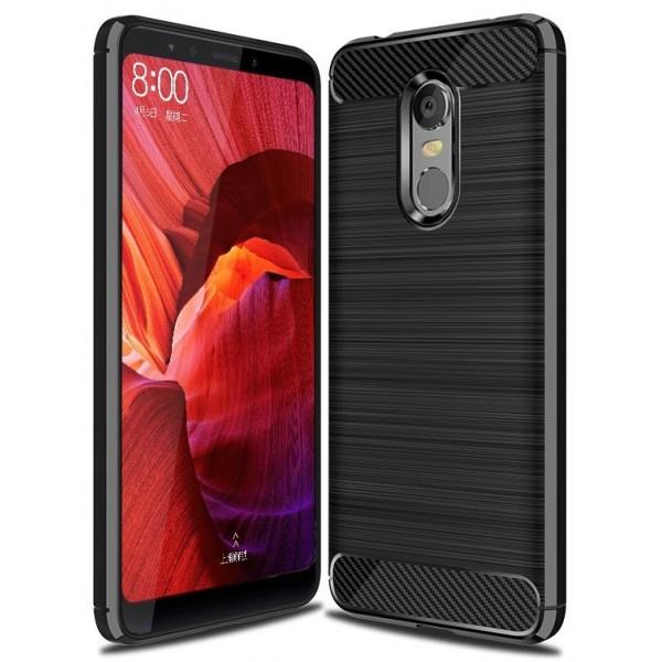 OEM Xiaomi Redmi 5 Plus Θήκη Rugged Carbon TPU - Black