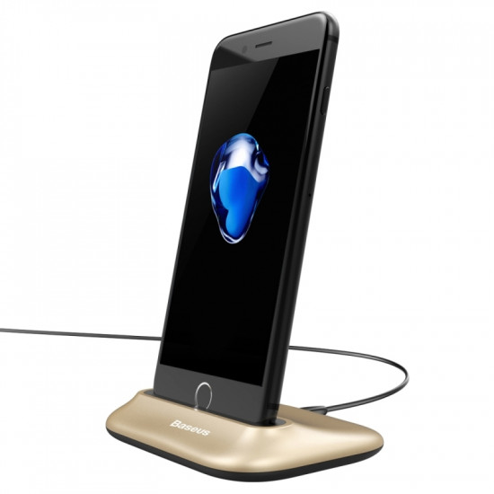 Baseus Little Volcano Docking Station Charge and Sync for Apple iPhone - Βάση Φόρτισης & Συγχρονισμού - Χρυσό