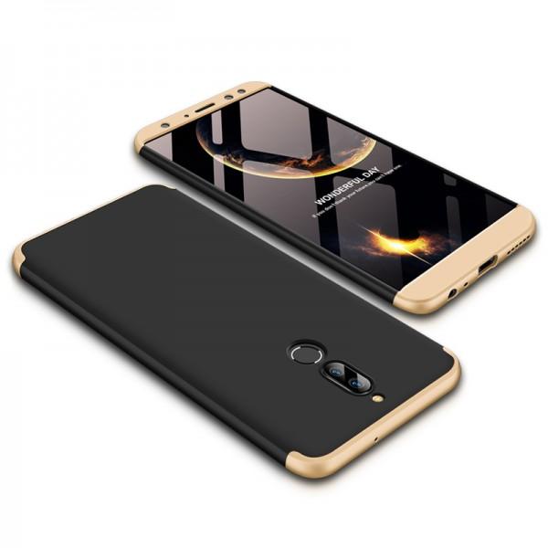 GKK Huawei Mate 10 Lite Θήκη 360 Full Body - Black / Gold