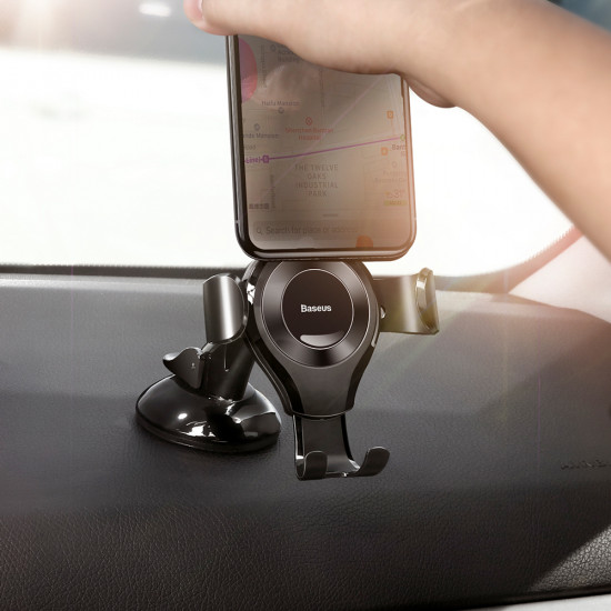 Baseus Osculum Gravity Car Mobile Holder - Universal Βάση Αυτοκινήτου - Black - SUYL-XP01