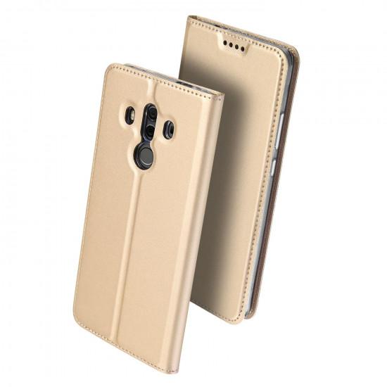 Dux Ducis Huawei Mate 10 Pro Flip Stand Case Θήκη Βιβλίο - Gold