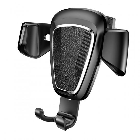 Baseus Gravity Metal Type Car Air Vent Mobile Holder - Universal Βάση Αυτοκινήτου Αεραγωγού - Black - SUYL-B01