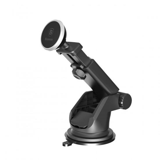 Baseus Solid Series Telescopic Magnetic Car Mobile Holder - Universal Μαγνητική Βάση Αυτοκινήτου - Silver - SULX-0S
