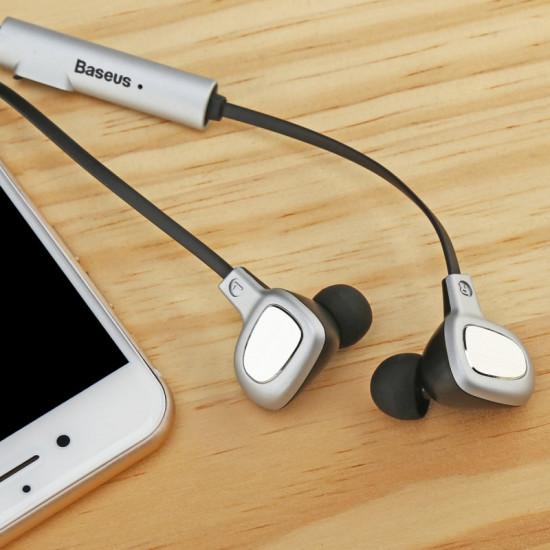 Baseus B15 Seal Bluetooth Earphone - Ασύρματα Ακουστικά για Smartphone / iPhone - Silver / White - NGB15-02