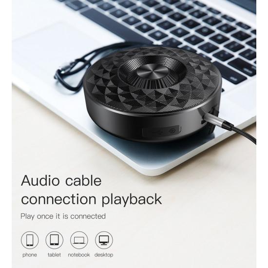 Baseus Outdoor Lanyard E03 Ασύρματο Bluetooth Ηχείο 3W με Ενσωματωμένο Μικρόφωνο - Silver / White - NGE03-S2