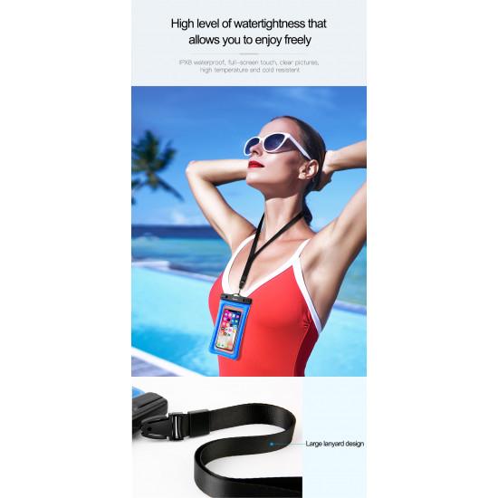 Baseus Air Cushion Universal Αδιάβροχη Θήκη για Smartphones 6.0'' - Black - ACFSD-A01