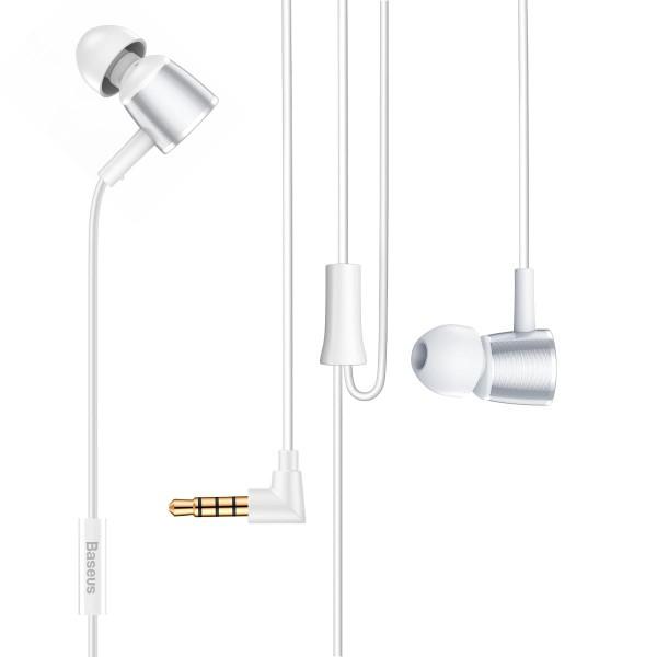 Baseus Encok H07 Handsfree Ακουστικά με Ενσωματωμένο Μικρόφωνο - Silver / White - NGH07-S2