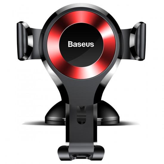 Baseus Osculum Gravity Car Mobile Holder - Universal Βάση Αυτοκινήτου - Black / Red - SUYL-XP09