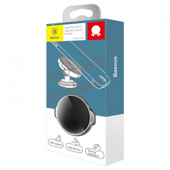 Baseus Small Ears Series Universal Magnetic Car Mount Holder for Smartphones / iPhones - Μαγνητική Βάση Αυτοκινήτου - Gold - SUER-B0V