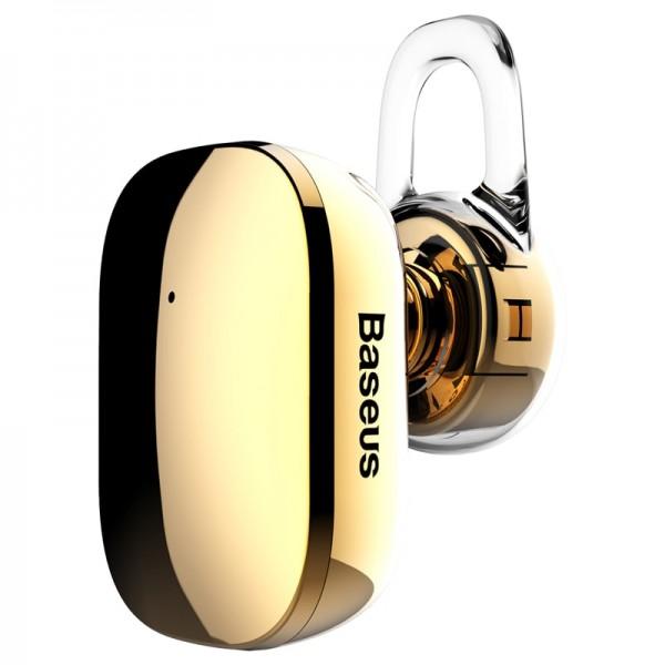 Baseus Encok A02 Mini Wireless Headset - Ασύρματο ακουστικό Bluetooth - Gold - NGA02-0V
