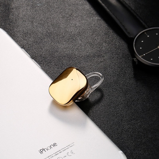 Baseus Encok A02 Mini Wireless Headset - Ασύρματο ακουστικό Bluetooth - Gold - NGA02-0V
