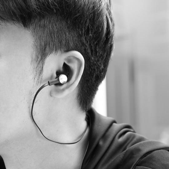 Baseus Licolor Magnet Bluetooth Earphone B11 - Ασύρματα Ακουστικά για Smartphone / iPhone - Silver / White - NGB11-02