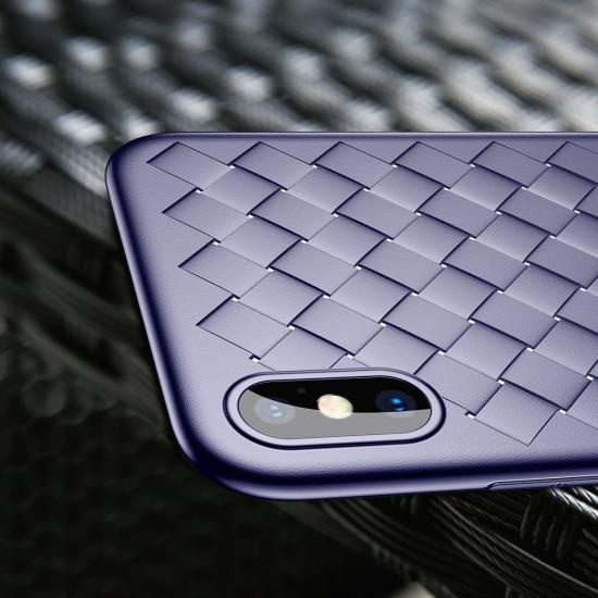 Baseus Apple iPhone SE 2020 / 7 / 8 BV Weaving Θήκη Σιλικόνης - Μπλε - WIAPIPH8N-BV03