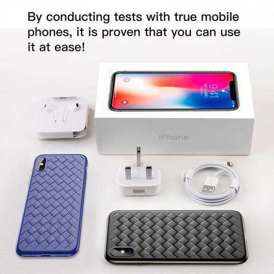 Baseus Apple iPhone SE 2020 / 7 / 8 BV Weaving Θήκη Σιλικόνης - Κόκκινη - WIAPIPH8N-BV09