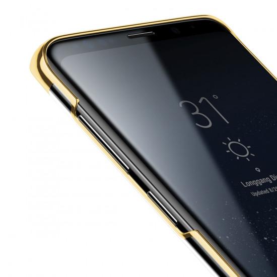 Baseus Glitter Electroplating Σκληρή Θήκη για Samsung Galaxy S9 - Gold - WISAS9-DW0V