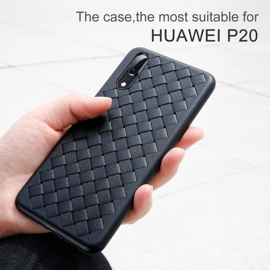 Baseus Huawei P20 BV Weaving Θήκη Σιλικόνης - Μαύρη - WIHWP20-BV01